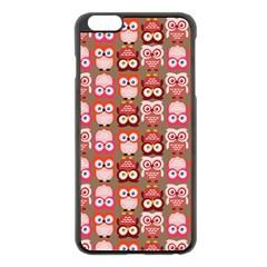 Eye Owl Colorfull Pink Orange Brown Copy Apple Iphone 6 Plus/6s Plus Black Enamel Case by Jojostore