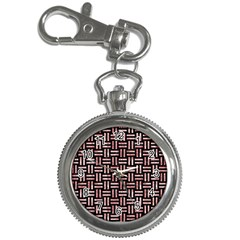 Woven1 Black Marble & Red & White Marble Key Chain Watch by trendistuff