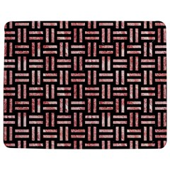 Woven1 Black Marble & Red & White Marble Jigsaw Puzzle Photo Stand (rectangular) by trendistuff