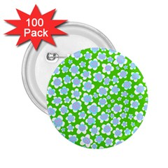 Flower Green Copy 2 25  Buttons (100 Pack)  by Jojostore