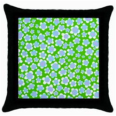 Flower Green Copy Throw Pillow Case (black) by Jojostore