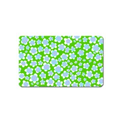Flower Green Copy Magnet (name Card) by Jojostore