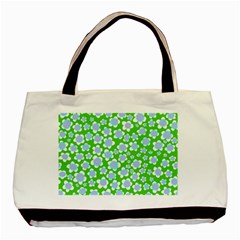 Flower Green Copy Basic Tote Bag (two Sides) by Jojostore