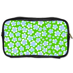 Flower Green Copy Toiletries Bags 2 Side by Jojostore