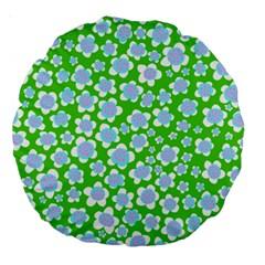 Flower Green Copy Large 18  Premium Round Cushions by Jojostore