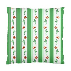 Flower Background Green Standard Cushion Case (two Sides) by Jojostore