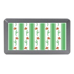 Flower Background Green Memory Card Reader (mini) by Jojostore