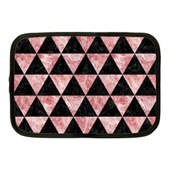 Triangle3 Black Marble & Red & White Marble Netbook Case (medium) by trendistuff