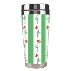 Flower Background Green Stainless Steel Travel Tumblers by Jojostore