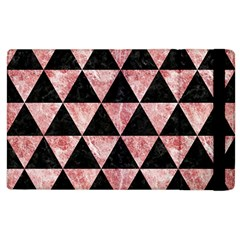 Triangle3 Black Marble & Red & White Marble Apple Ipad 2 Flip Case by trendistuff
