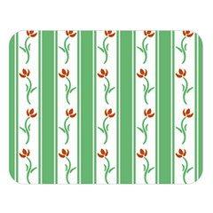 Flower Background Green Double Sided Flano Blanket (large)  by Jojostore