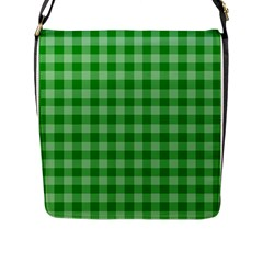 Gingham Background Fabric Texture Flap Messenger Bag (l)  by Jojostore
