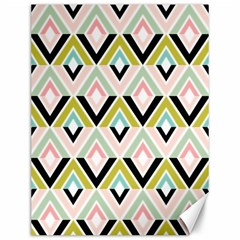 Chevron Pink Green Copy Canvas 12  X 16   by Jojostore