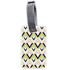 Chevron Pink Green Copy Luggage Tags (two Sides) by Jojostore
