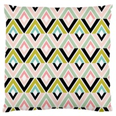 Chevron Pink Green Copy Standard Flano Cushion Case (one Side)