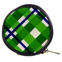 Green Plaid Mini Makeup Bags by Jojostore