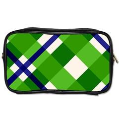 Green Plaid Toiletries Bags 2 Side by Jojostore