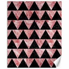 Triangle2 Black Marble & Red & White Marble Canvas 16  X 20  by trendistuff