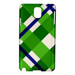 Green Plaid Samsung Galaxy Note 3 N9005 Hardshell Case
