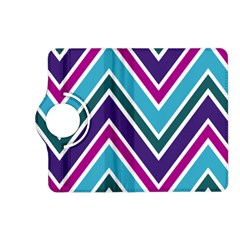 Fetching Chevron White Blue Purple Green Colors Combinations Cream Pink Pretty Peach Gray Glitter Re Kindle Fire Hd (2013) Flip 360 Case by Jojostore