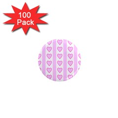 Heart Pink Valentine Day 1  Mini Magnets (100 Pack)  by Jojostore