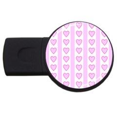 Heart Pink Valentine Day Usb Flash Drive Round (2 Gb)  by Jojostore
