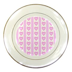 Heart Pink Valentine Day Porcelain Plates by Jojostore