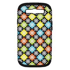 Diamond Argyle Pattern Flower Samsung Galaxy S Iii Hardshell Case (pc+silicone) by Jojostore