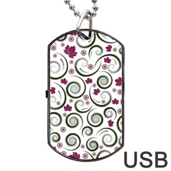 Leaf Back Purple Copy Dog Tag Usb Flash (one Side) by Jojostore