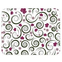 Leaf Back Purple Copy Double Sided Flano Blanket (medium)  by Jojostore