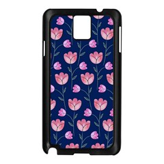 Flower Tulip Floral Pink Blue Samsung Galaxy Note 3 N9005 Case (black) by Jojostore