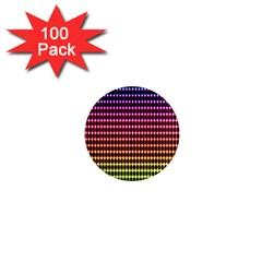 Halftone Pattern Rainbow 1  Mini Magnets (100 Pack)  by Jojostore