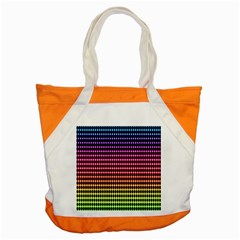 Halftone Pattern Rainbow Accent Tote Bag by Jojostore