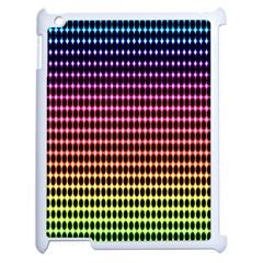 Halftone Pattern Rainbow Apple Ipad 2 Case (white) by Jojostore