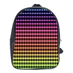 Halftone Pattern Rainbow School Bags (xl)  by Jojostore