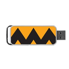 Minimal Modern Simple Orange Portable Usb Flash (one Side) by Jojostore