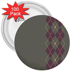 Minimalism Grey Background 3  Buttons (100 Pack)  by Jojostore