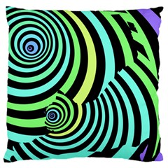 Optical Illusions Checkered Basic Optical Bending Pictures Cat Large Flano Cushion Case (two Sides) by Jojostore