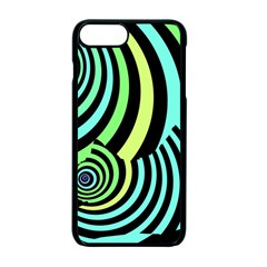 Optical Illusions Checkered Basic Optical Bending Pictures Cat Apple Iphone 7 Plus Seamless Case (black) by Jojostore