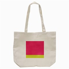 Pink Yellow Tote Bag (cream)
