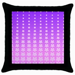 Purple And Pink Stars Line Throw Pillow Case (black) by Jojostore