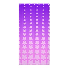 Purple And Pink Stars Line Shower Curtain 36  X 72  (stall)  by Jojostore