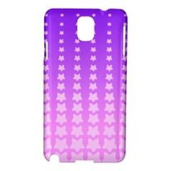 Purple And Pink Stars Line Samsung Galaxy Note 3 N9005 Hardshell Case by Jojostore