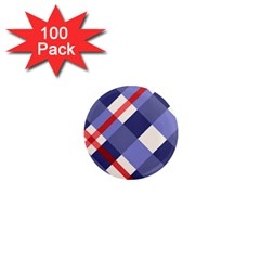 Red And Purple Plaid 1  Mini Magnets (100 Pack)  by Jojostore