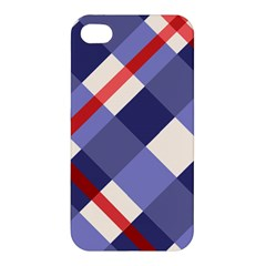 Red And Purple Plaid Apple Iphone 4/4s Premium Hardshell Case by Jojostore