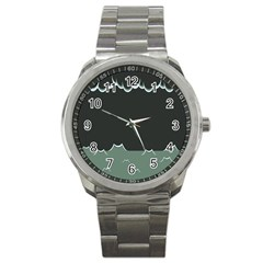 Rain Cloudy Sky Sport Metal Watch by Jojostore