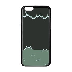Rain Cloudy Sky Apple Iphone 6/6s Black Enamel Case by Jojostore
