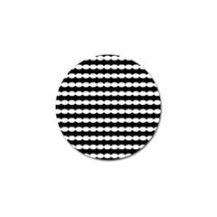 Silhouette Overlay Oval Golf Ball Marker by Jojostore