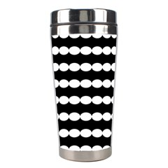Silhouette Overlay Oval Stainless Steel Travel Tumblers by Jojostore