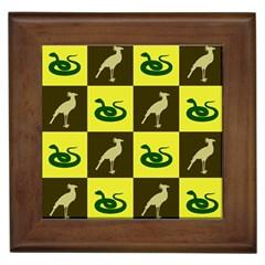 Snake Bird Framed Tiles by Jojostore